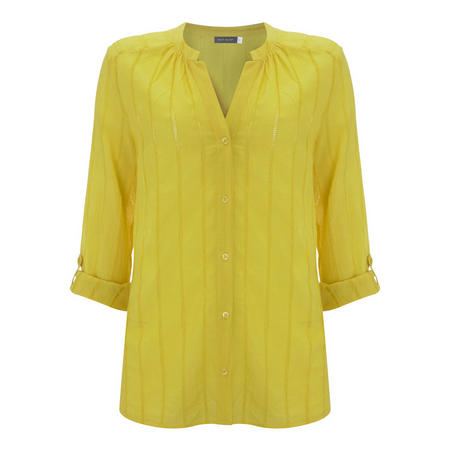 Lemon Ladder Lace Shirt Yellow