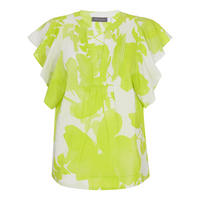 Chelsea Print Ruffle Sleeve Tee Multicolour