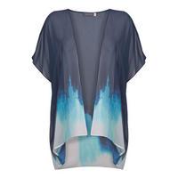 Iris Tie Dye Print Kimono