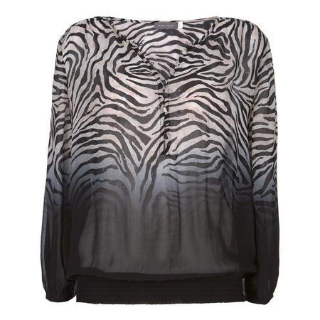 Naomi Zebra Dip Dye Blouse