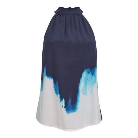 Iris Tie Dye Print Halter Top