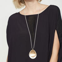 Double Circle Pendant Necklace