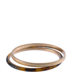 Gold Tone & Tortoise Bangle Gold