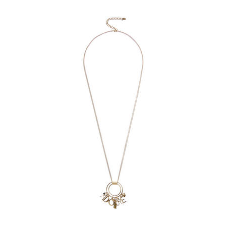 Gold Adore Charm Necklace Gold