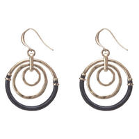 Triple Circle Woven Earring Gold