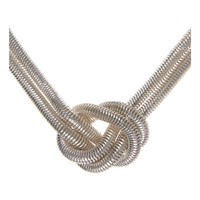 Silver Tone Knot Necklace Silver