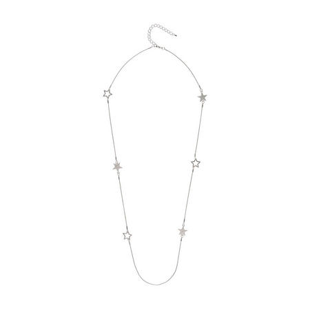 Silver Star Chain Necklace Silver