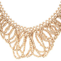 Gold Tone Statement Necklace Gold