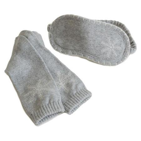 Snowflake Sock & Eyemask Set Grey