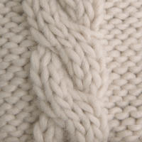 Cable Knit Mittens Natural