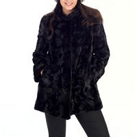 Black Faux Fur Swing Coat Black