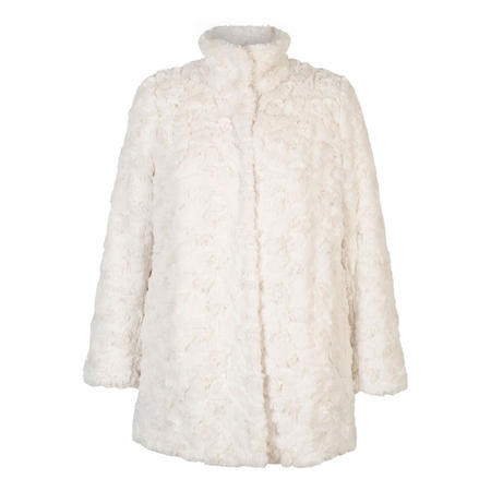 Cream Faux Fur Swing Coat Cream