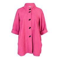 Rose Pink Textured Jacquard Coat