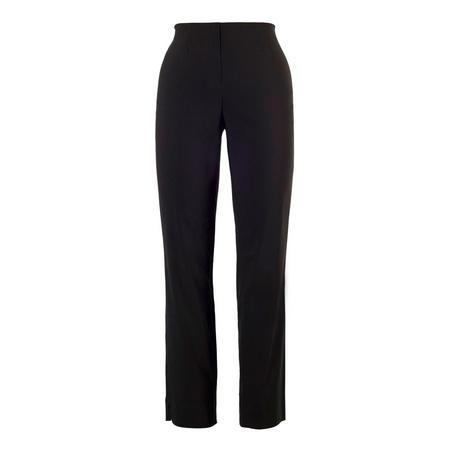 Black Pull On Stretch Slim Leg Trouser Black