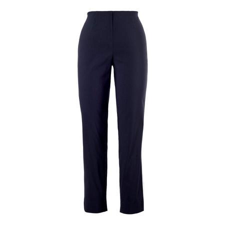 Navy Pull On Stretch Slim Leg Trouser