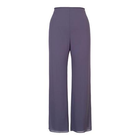Hyacinth Satin Trim Chiffon Trouser Purple