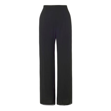 Black Chiffon Trouser with Jersey Lining