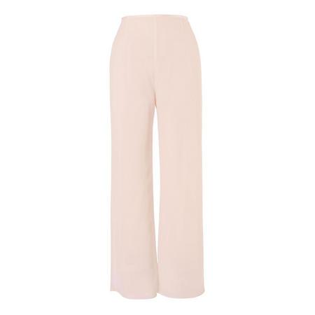 Blush Satin Trim Chiffon Trouser Pink