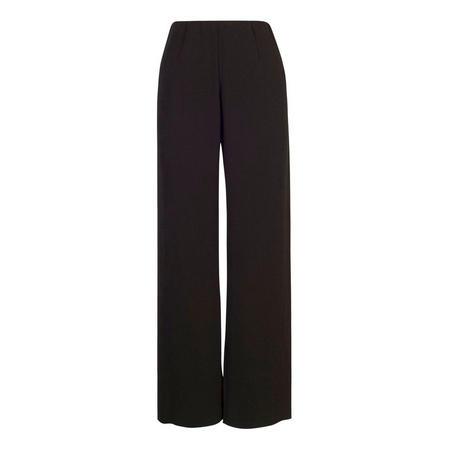 Black Fine Ribbed Jacquard Trouser Black