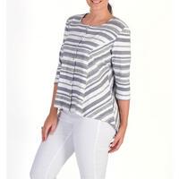 Stripe Jersey Cardigan