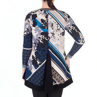 Riviera Floral Print Jersey Top With Contrast Trim