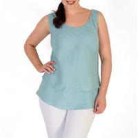 Double Layer Linen Camisole