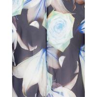 Lily & Rose Print High Low Chiffon Coat
