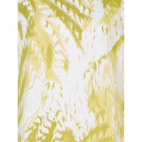 White/Apple Print Linen Top