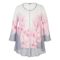 Garland Border Detail Chiffon Coat