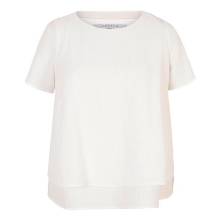 Ivory Layered Textured Jacquard Top