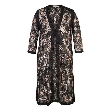 Black/Pink/Ivory Ombre Cornelli Coat