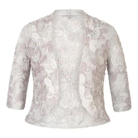 Ice/Ivory Ombre Cornelli Lace Jacket