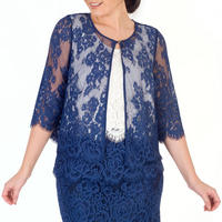 Riviera Scallop Trim Lace Jacket Blue