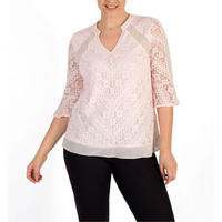 Lace Top with Chiffon Inserts