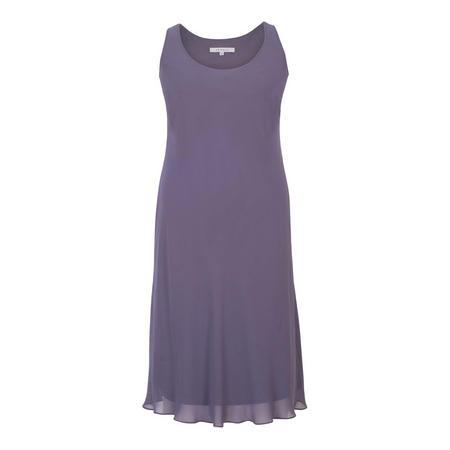 Hyacinth Chiffon Dress Purple
