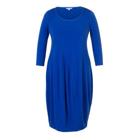 Sapphire Pintuck Detail Jersey Dress