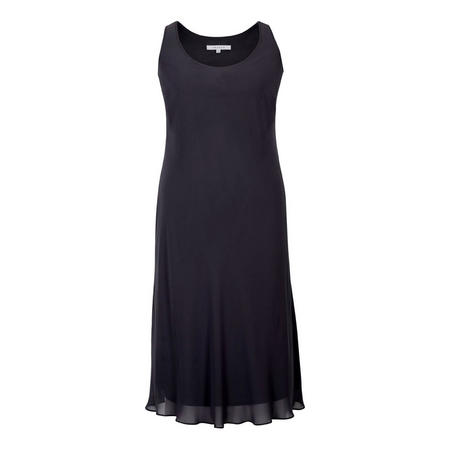 Black Bias Cut Chiffon Dress Black