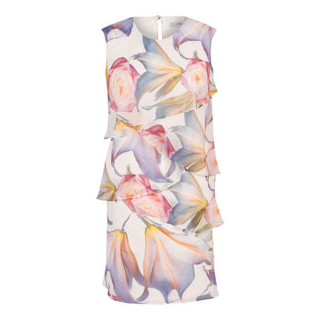 c85b3ab860ab Blonde Lily & Rose Print Layered Chiffon Dress