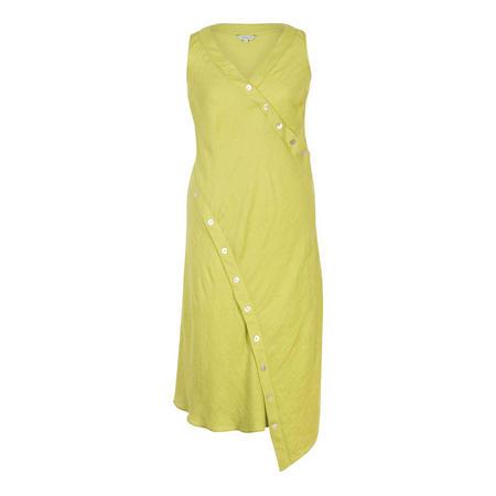 Button Detail Linen Dress
