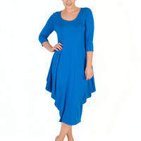 Azure Princess Seam Jersey Dress Blue