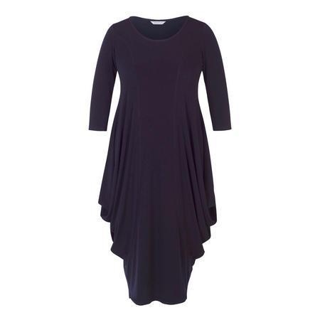 Princess Seam Jersey Drape Dress