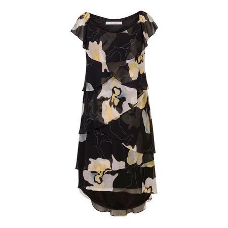 Floral Layered Chiffon Dress