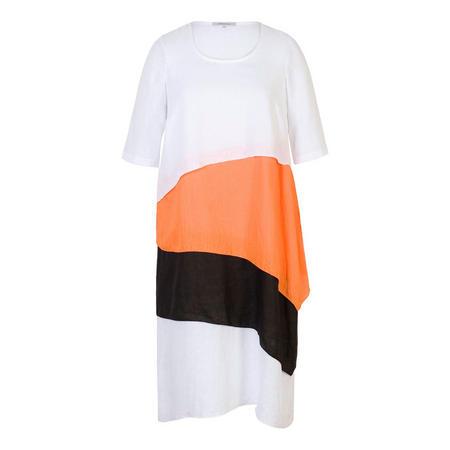 Block Colour Layered Linen Dress