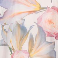 Blonde Lily & Rose Print Chiffon Shawl