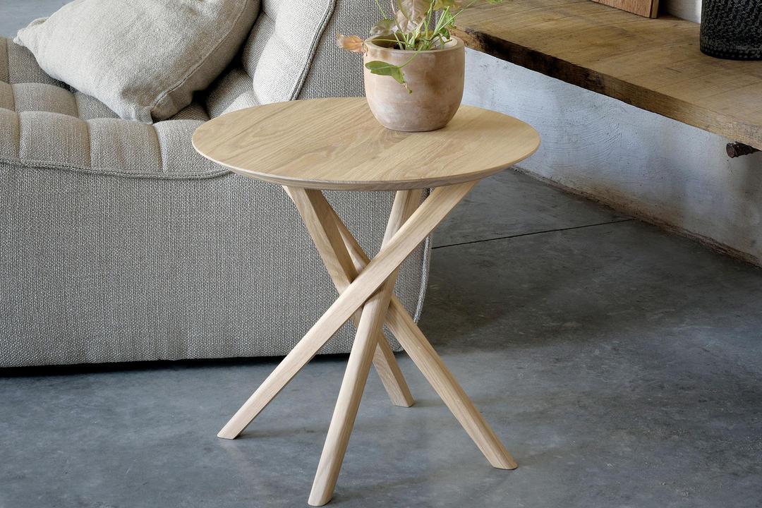 Mikado Side Table Oak Finish 50541