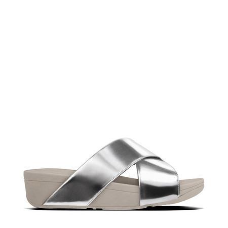 Lulu Slide Mirror Sandal  Silver