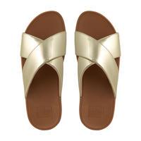 Lulu Slide Mirror Sandal  Gold