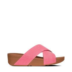 Lulu Denim Slides Pink