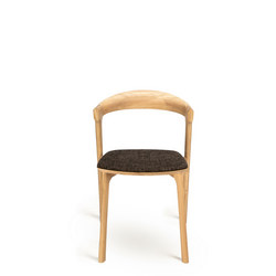 Bok Dining Chair Oak+Dark Brown Upholstery 51489