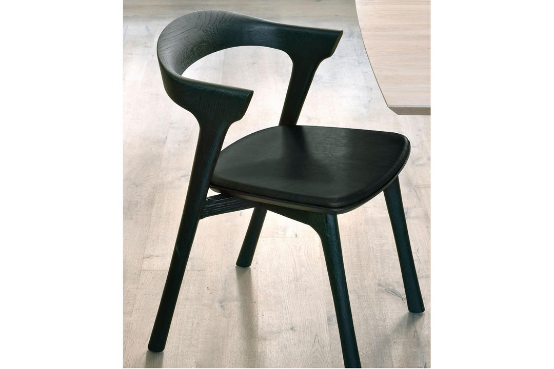 Bok Dining Chair Black Oak+Black Leather 51492